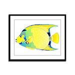Queen Angelfish Framed Panel Print