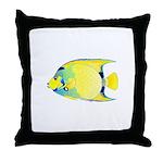 Queen Angelfish Throw Pillow