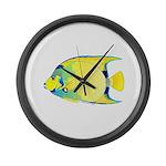 Queen Angelfish Large Wall Clock