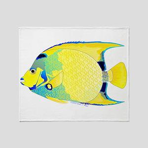 Queen Angelfish Throw Blanket