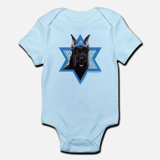 Hanukkah Star of David - Schnauzer Infant Bodysuit