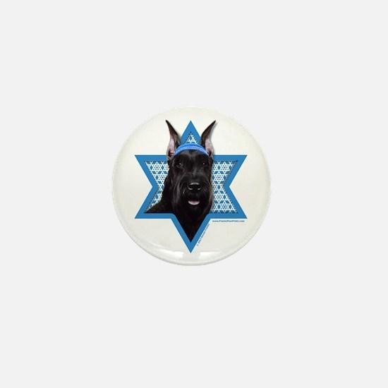 Hanukkah Star of David - Schnauzer Mini Button