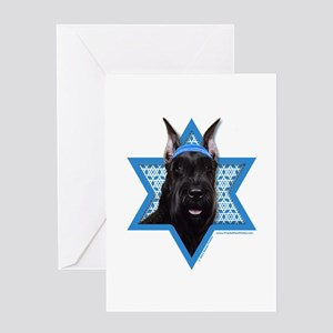 Hanukkah Star of David - Schnauzer Greeting Card