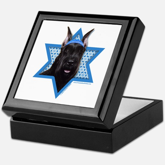 Hanukkah Star of David - Schnauzer Keepsake Box