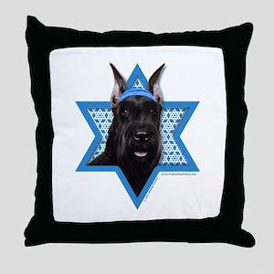 Hanukkah Star of David - Schnauzer Throw Pillow