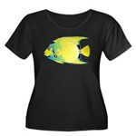 Queen Angelfish c Plus Size T-Shirt