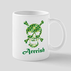 Arrish Irish Pirate Shamrock Skull Mugs