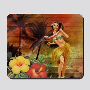 passion flower hawaii hula dancer Mousepad