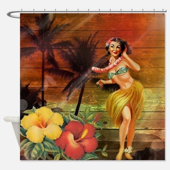 passion flower hawaii hula dancer Shower Curtain