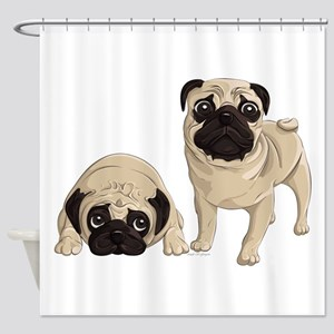 Pugs Shower Curtain