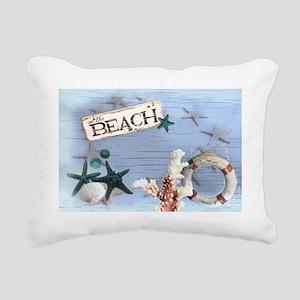 nautical seashells beach Rectangular Canvas Pillow