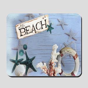 nautical seashells beach fashion Mousepad