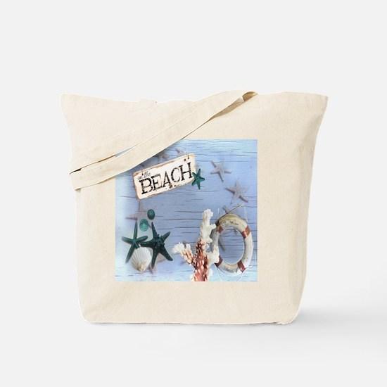 nautical seashells beach fashion Tote Bag