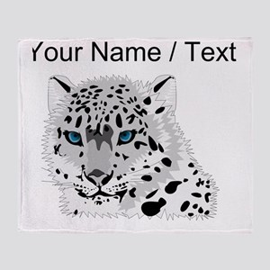 Custom Snow Leopard Throw Blanket