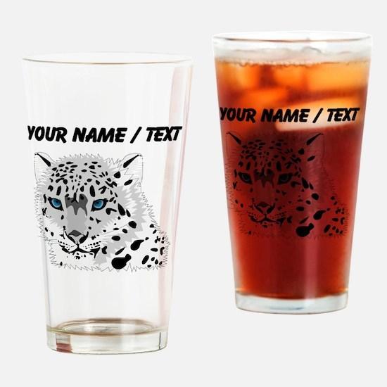 Custom Snow Leopard Drinking Glass