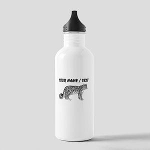 Custom Leopard Sketch Water Bottle