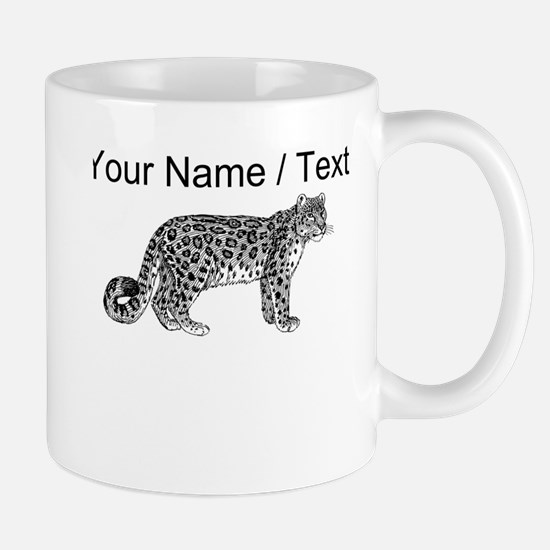 Custom Leopard Sketch Mugs