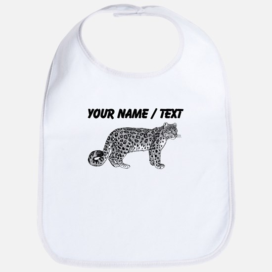 Custom Leopard Sketch Bib