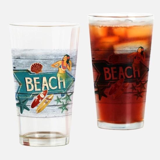 surfer beach fashion Drinking Glass