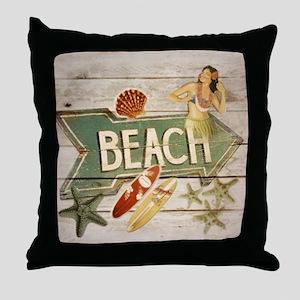 surfer beach fashion Throw Pillow
