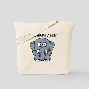 Custom Baby Elephant Tote Bag
