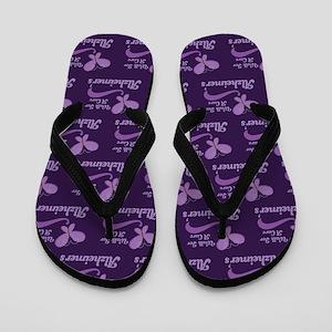 Alzheimers Walk For A Cure Flip Flops