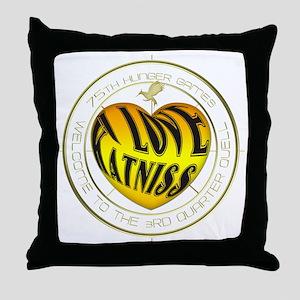 I love Katniss Throw Pillow