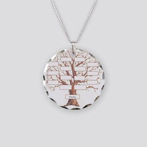 Family Tree Necklace Circle Charm