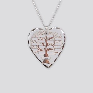 Family Tree Necklace Heart Charm