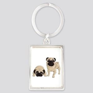 Pugs Portrait Keychain