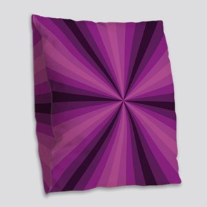 Purple Illusion Burlap Throw Pillow