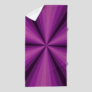 Purple Illusion Beach Towel