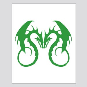 Green Love Dragons Small Poster
