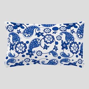 Dazzling Blue Paisley Pattern Pillow Case