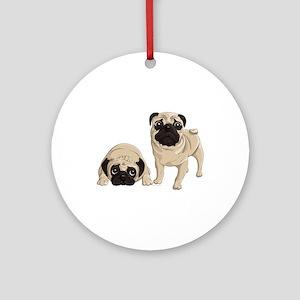 Pugs Ornament (Round)