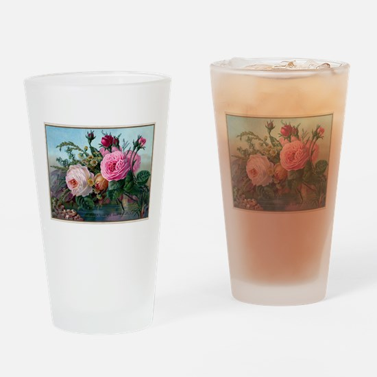 Cute Roses Drinking Glass