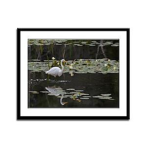 Egret Framed Panel Print
