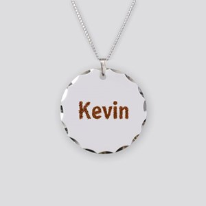 Kevin Fall Leaves Necklace Circle Charm