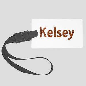 Kelsey Fall Leaves Large Luggage Tag