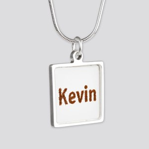 Kevin Fall Leaves Silver Square Necklace