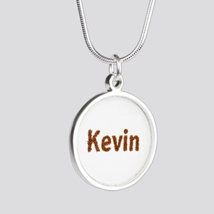 Kevin Fall Leaves Silver Round Necklace