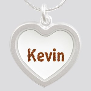 Kevin Fall Leaves Silver Heart Necklace