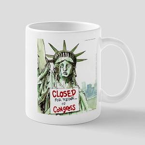 Lady Liberty Closed 4 Congress Mugs