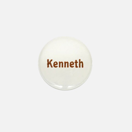 Kenneth Fall Leaves Mini Button
