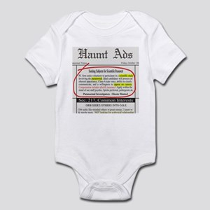 Haunt Ads: Ghosts Wanted Infant Bodysuit