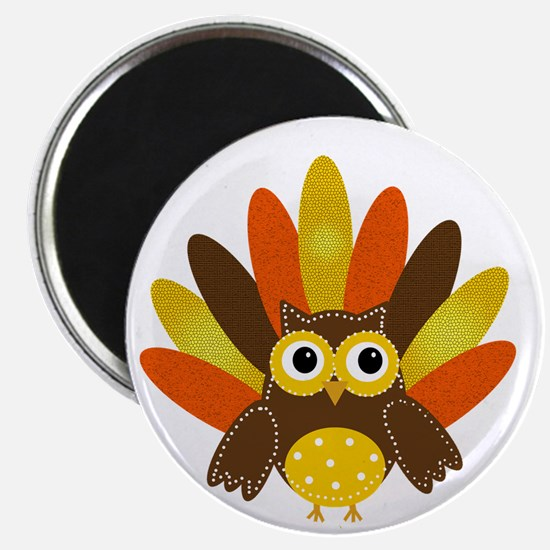 Thanksgiving Owl Magnets