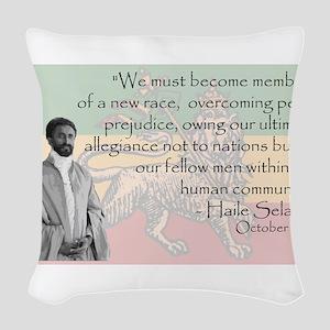 Haile Selassie Woven Throw Pillow