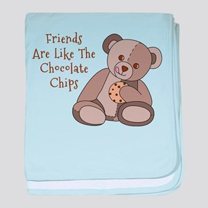 Friends Are Like Chocolate Chips baby blanket