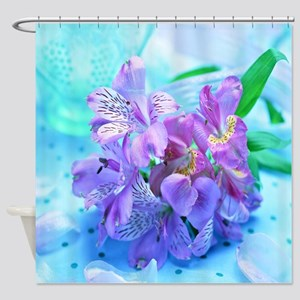 Orchid Flowers Floral Shower Curtain