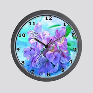 Orchid Flowers Floral Wall Clock
